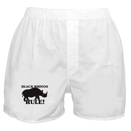 Black Rhinos Rule! Boxer Shorts