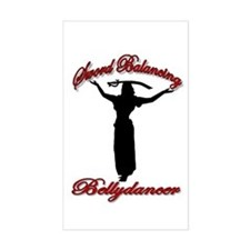 Sword Balancing Bellydancer Rectangle Decal
