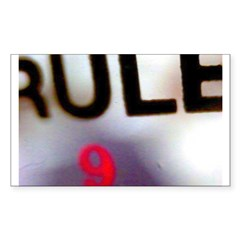 Rule 9 Rectangle Decal