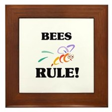 Bees Rule! Framed Tile