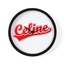 Retro Celine (Red) Wall Clock