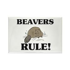 Beavers Rule! Rectangle Magnet