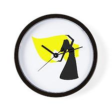 Yellow Veil Dancer Wall Clock