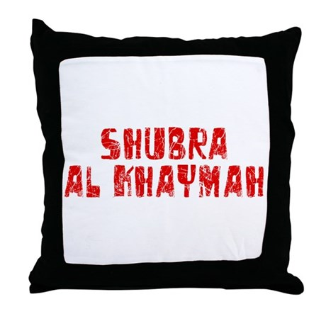 Shubra al-Kh.. Faded (Red) Throw Pillow