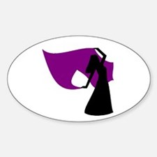 Plum Veil Dancer Oval Decal