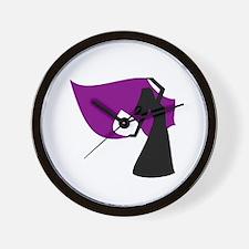 Plum Veil Dancer Wall Clock