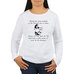 Ghandi Quote Women's Long Sleeve T-Shirt