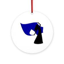 Dark Blue Veil Dancer Keepsake (Round)
