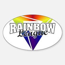 Rainbow League Oval Decal