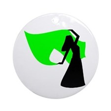 Lime Green Veil Dancer Keepsake (Round)