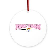 Pink Team Ornament (Round)
