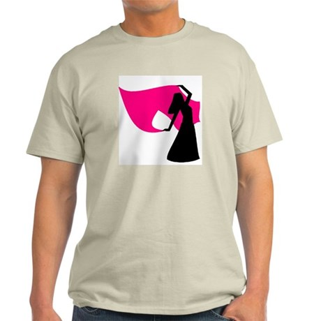 Hot Pink Veil Dancer Ash Grey T-Shirt