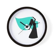 Aqua Veil Dancer Wall Clock