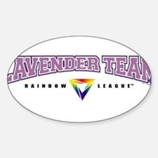 Lavender Team Oval Decal