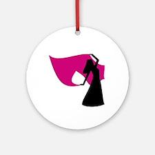 Rose Pink Veil Dancer Keepsake (Round)