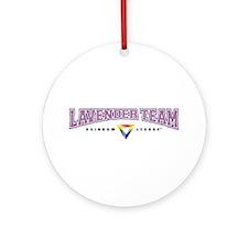 Lavender Team Ornament (Round)