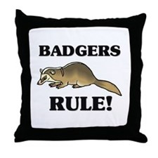 Badgers Rule! Throw Pillow