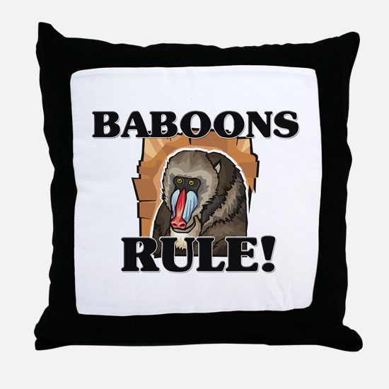 Baboons Rule! Throw Pillow