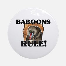 Baboons Rule! Ornament (Round)