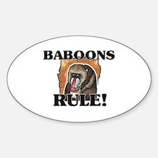 Baboons Rule! Oval Decal
