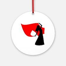 Red Veil Dancer Keepsake (Round)