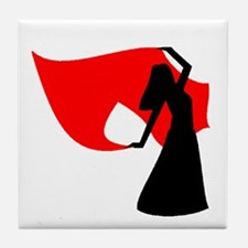 Red Veil Dancer Tile Coaster