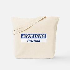 Jesus Loves Cynthia Tote Bag