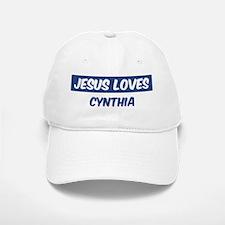 Jesus Loves Cynthia Baseball Baseball Cap