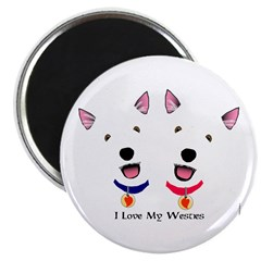 Westie Love X 2 Magnet