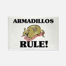 Armadillos Rule! Rectangle Magnet (10 pack)