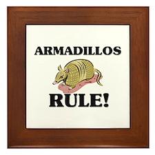 Armadillos Rule! Framed Tile