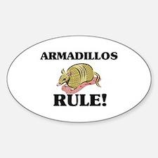 Armadillos Rule! Oval Decal