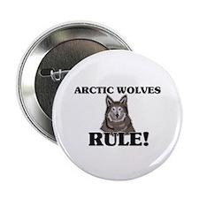 """Arctic Wolves Rule! 2.25"""" Button"""