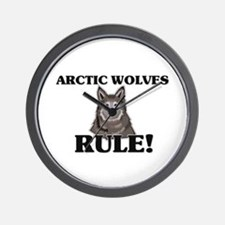 Arctic Wolves Rule! Wall Clock