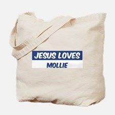 Jesus Loves Mollie Tote Bag