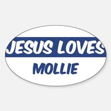 Jesus Loves Mollie Oval Decal