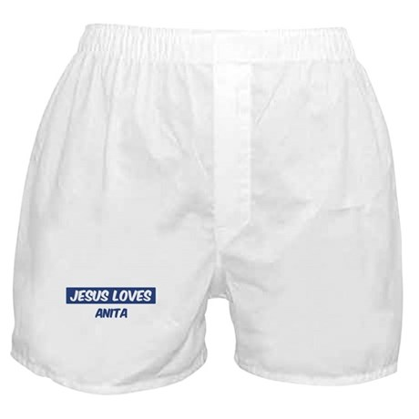Jesus Loves Anita Boxer Shorts