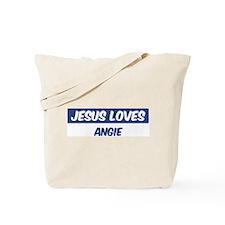 Jesus Loves Angie Tote Bag
