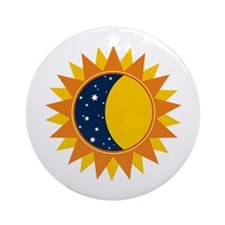 Sun Moon And Stars Ornament (Round)