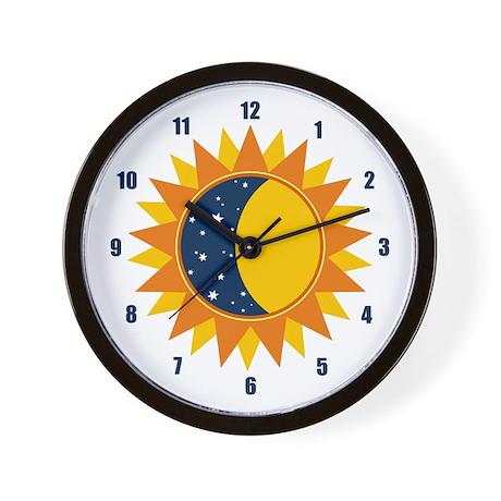 Sun Moon And Stars Wall Clock