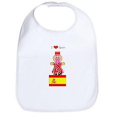 I Love Spain Bib