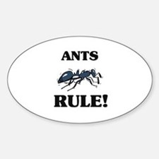 Ants Rule! Oval Decal