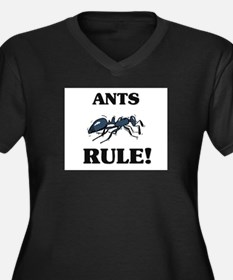 Ants Rule! Women's Plus Size V-Neck Dark T-Shirt