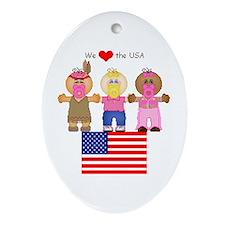 I Love USA Keepsake (Oval)