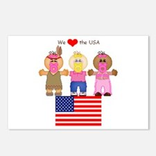 I Love USA Postcards (Package of 8)