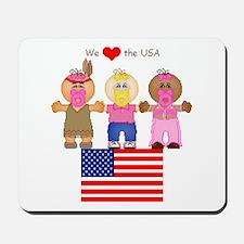 I Love USA Mousepad