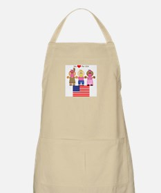 I Love USA BBQ Apron