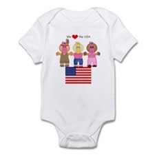 I Love USA Infant Creeper