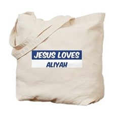 Jesus Loves Aliyah Tote Bag
