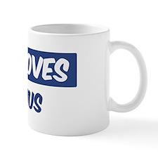 Jesus Loves Maximus Small Small Mug